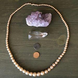 Vintage 60s Faux Pearl Necklace